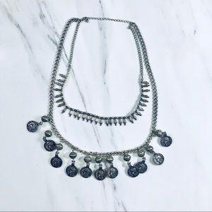 OG Nasty Gal Women's Amah Double Charm Necklace